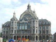 image façade gare Anvers Belgique