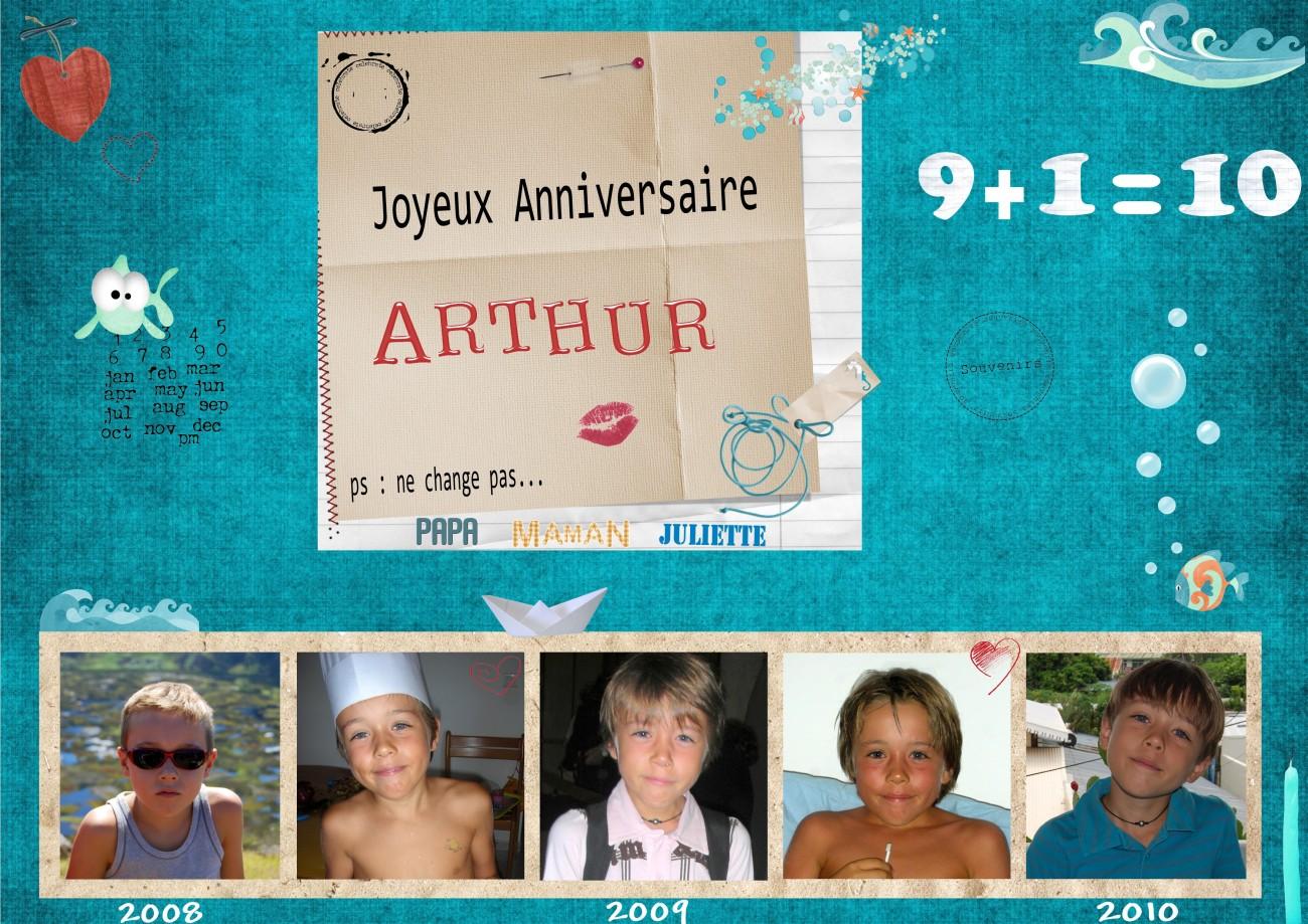 Arthur a 10 ans