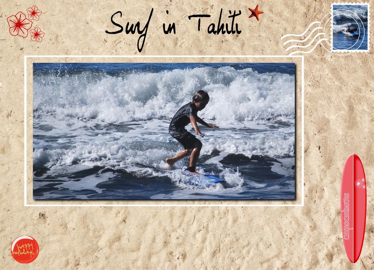 Surf in Tahiti...
