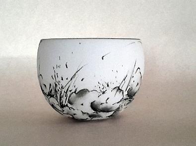 bol fleurs blanc