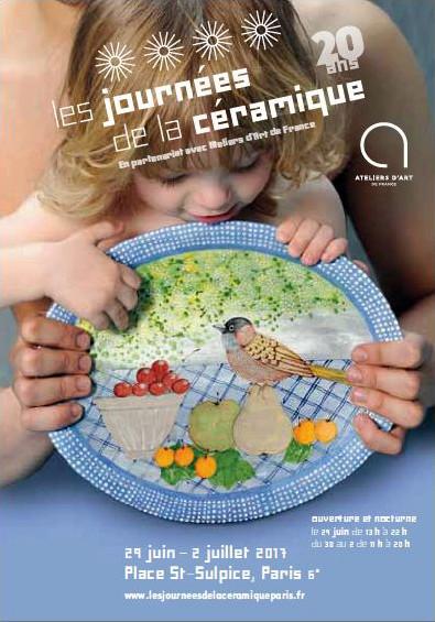 Les Journées de la Céramique, Place Saint-Sulpice, Paris 6e – du 29 juin au 2 juillet 2017 (jeudi 13h-22h | vendredi, samedi, dimanche 11h-20h)