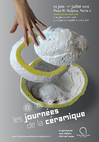 Les Journées de la Céramique, Place Saint-Sulpice, Paris 6e – du 28 juin au 1er juillet 2018 (jeudi 13h-22h | vendredi, samedi, dimanche 11h-20h)