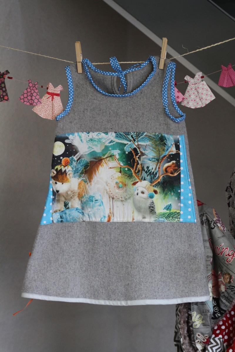 Robe Animaux de la Forêt-12 mois-