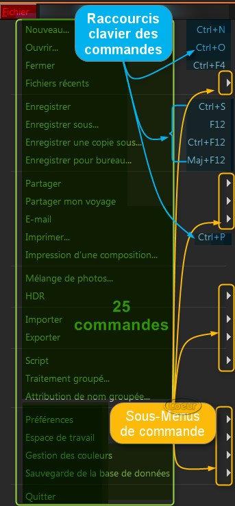 menu fichier psp