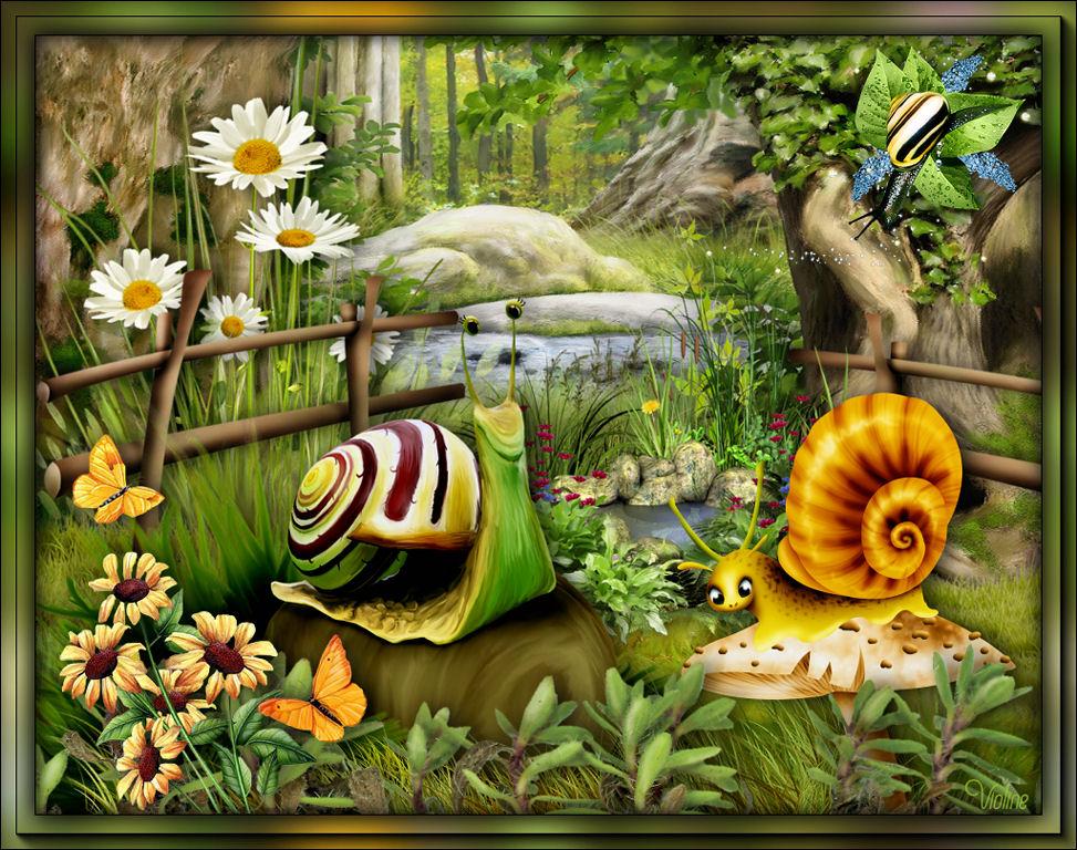 MES CREATIONS à mettre sur Monde Graphisme Creachou020620_Challenge_Fairy_Escargots2